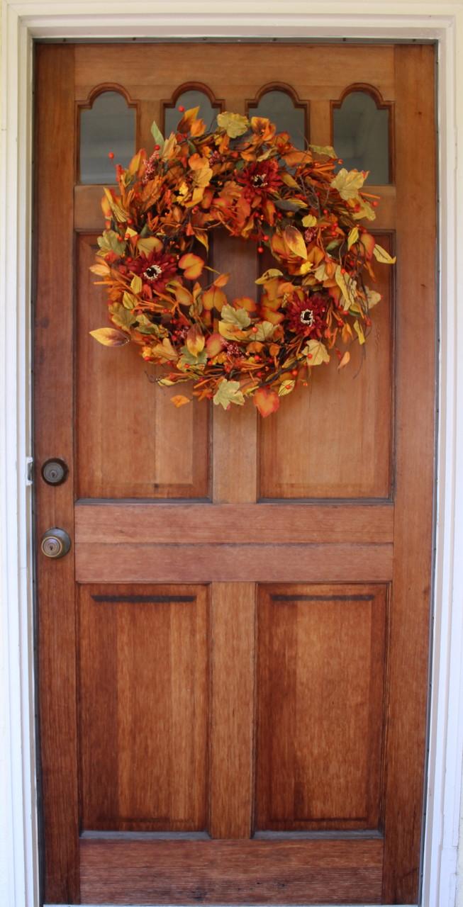 Highland Fall Silk Door Wreath 22 Inch The Wreath Depot