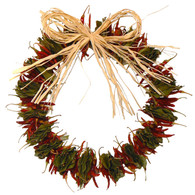 Hot Chili Herbal Wreath - 14 in