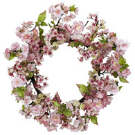 Jubilation Cherry Blossom Silk Door Wreath - 22 inch