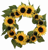 Kansas Sunrise Silk Wreath - 20 in