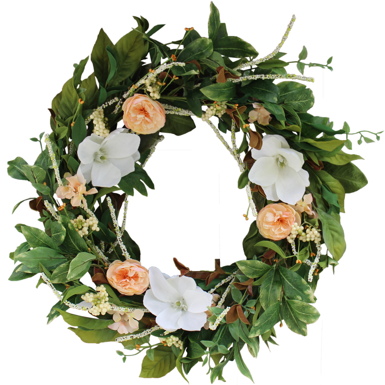 Magnolia Bloom Silk Spring Door Wreath 22 In The Wreath Depot