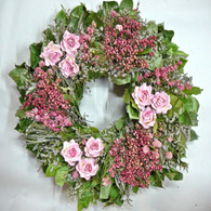 Pepperberry Rose Spring Wreath 22 inch