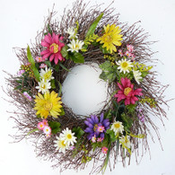 Rebekah's Daisy Door Wreath - 22 in