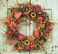 Renaissance Harvest Front Door Wreath - 22 in