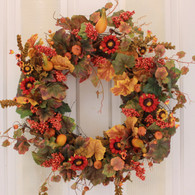 Sheffield Fall Silk Door Wreath 22 inch
