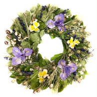Windy & Warm Floral Wreath - 22 in