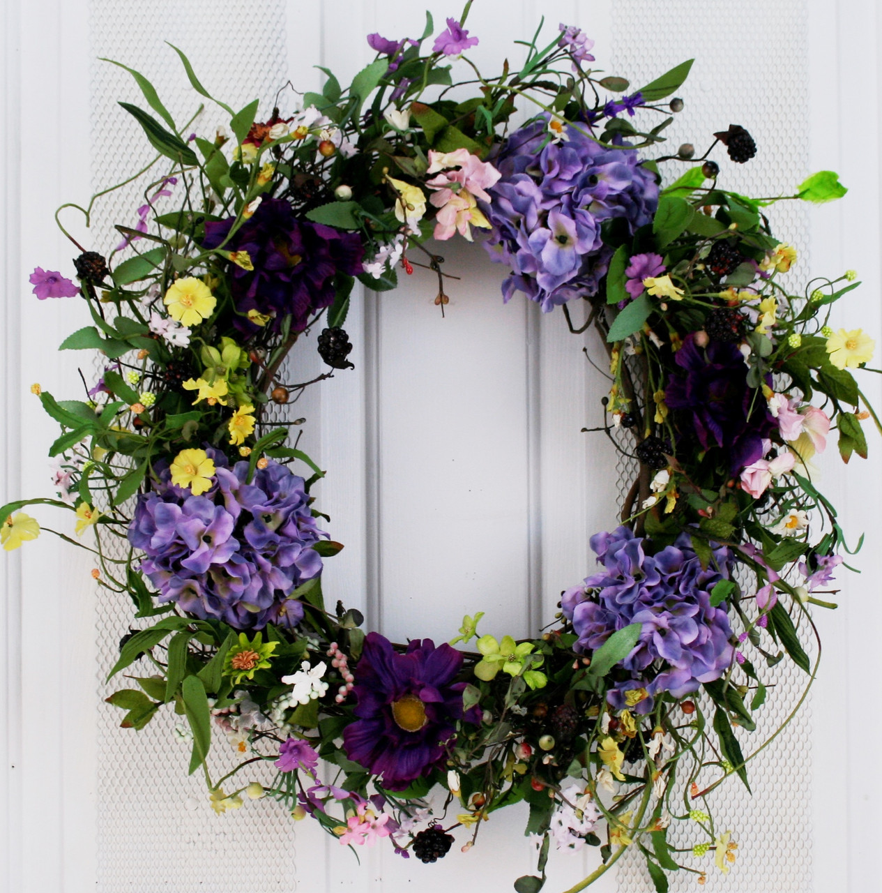 "National Tree Co. 22"" Spring Flower Wreath & Reviews 