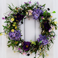 Spring Medley Silk Flower Spring Door Wreath - 22 inch