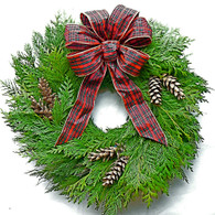All Cedar Fresh Christmas Wreath - 20 in