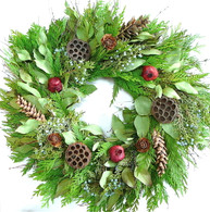Evergreen And Juniper Fresh Seasonal Wreath 24 in