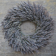 Santa Rosa Dried Lavender Wreath 16 in