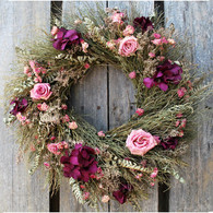 Williamsburg Wild Rose Floral Wreath