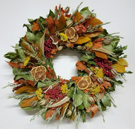 Fall Cinnamon and Berry Wreath 22 inch