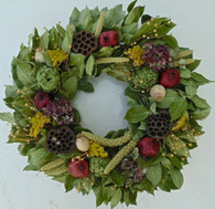 Newport Dried Flower Harvest Wreath
