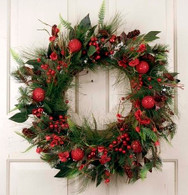 Astoria Front Door Artificial Christmas Wreath 22 in