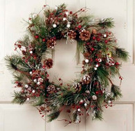Lynnwood Silk Artificial Christmas Wreath 18 in
