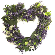 Vidalia Heart Spring Wreath 17 in
