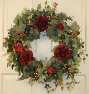 Meadowbrook Silk Seasonal Front Door Wreath 22 in