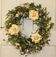 Summerbrook Silk Spring Front Door Wreath 22 in