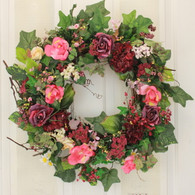 Willowdale Silk Spring Door Wreath 22 in