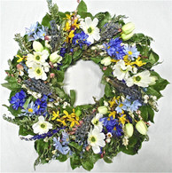 Heritage Green Floral Spring Wreath 22 in