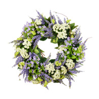 Queen Annes Lace Silk Spring Door Wreath