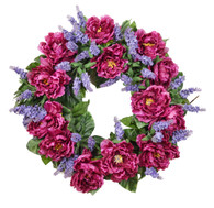 Catalina Peony Silk Spring Door Wreath