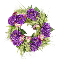 Bellagio Peony Silk Spring Front Door Wreath