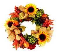 Oakhurst Silk Front Door Fall Wreath