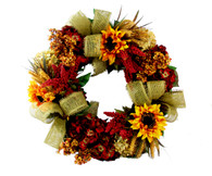 Strathmore Silk Front Door Autumn Wreath