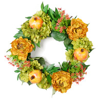 Kensington Silk Decorative Front Door Wreath