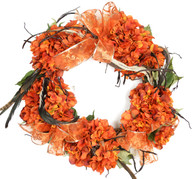 Feather Silk Door Halloween Wreath