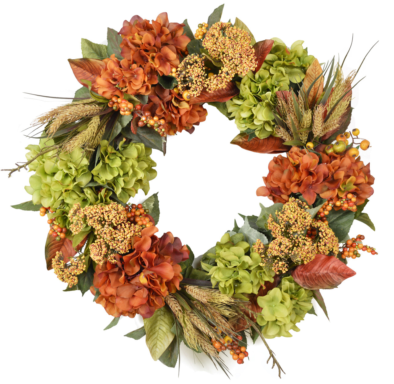 Foxridge Silk Flower Fall Door Wreath The Wreath Depot