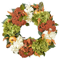 Stonybrook Silk Flower Fall Door Wreath