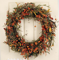 Arden Berry Silk Autumn Door Wreath 22 in