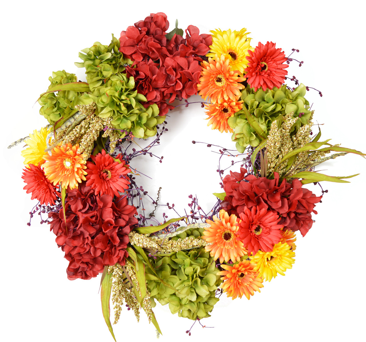 Cabuya Daisy Silk Flower Decorative Door Wreath The Wreath Depot
