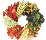 Matapalo Harvest Dried Flower Fall Wreath