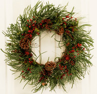 Montpelier Pine Cone Artificial Christmas Door Wreath 22 in