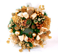 Belleville Elegant Decorated Silk Christmas Door Wreath