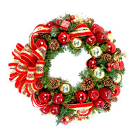 La Minerve Silk Artificial Christmas Wreath With Bow