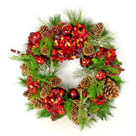 Kingscroft Silk Evergreen Artificial Christmas Wreath