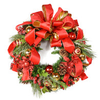 Hemmingford Holiday Silk Christmas Door Wreath