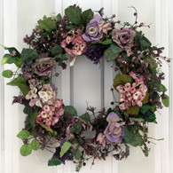 Bellhammon Silk Spring Door Wreath 22 in