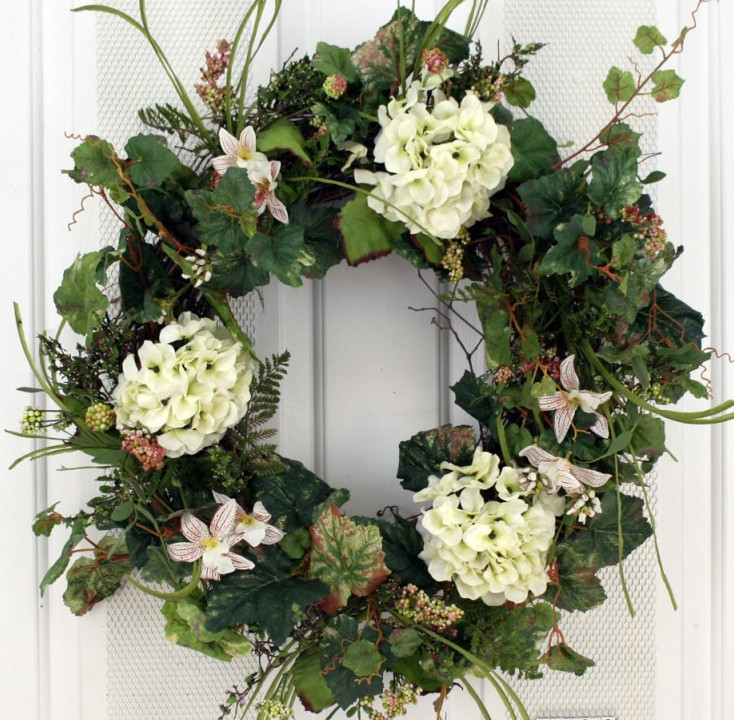 Cheshire Silk Spring Front Door Wreath 22 In The Wreath Depot