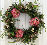 Hanover Silk Spring Front Door Wreath 22 in