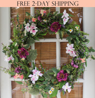 Windsor Silk Spring Door Wreath - 24 in