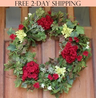 Belmont Silk Decorative Front Door Wreath 24 inch