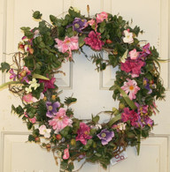 Bristol Silk Spring Front Door Wreath 22 in