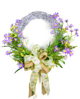 Daises Grapevine Silk Spring Door Wreath