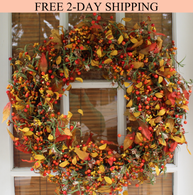 Appalachia Berry Fall Silk Door Wreath 22 inch